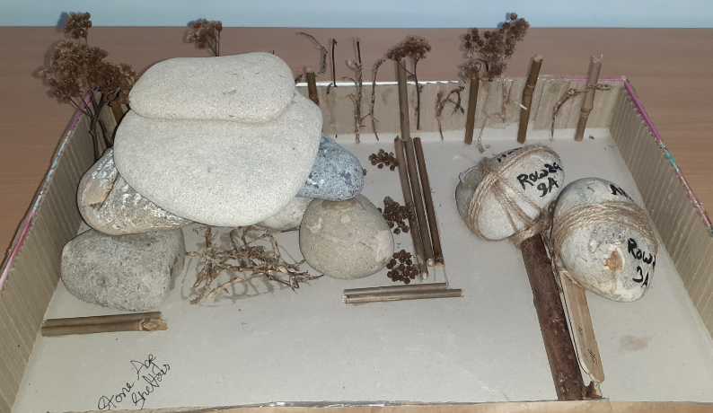 Y3 Stoneage shelter homework