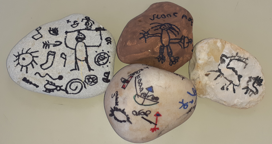 Y3 Stoneage stone paintings